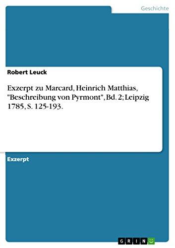 Exzerpt zu Marcard, Heinrich Matthias,