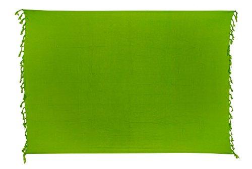 Sarong Pareo Wickelrock Dhoti Lunghi Stickerei Schmetterling Tuch Gelb Handtuch