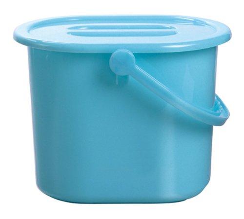 Compartimiento azul con almacenamiento de tapa para los pañales de tela - 15L