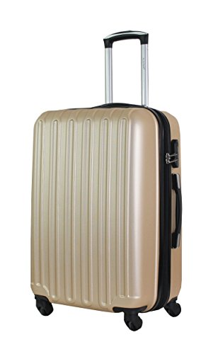 Valise Taille Moyenne 65cm - ALISTAIR Sécure - ABS Ultra légère et résistante - 4 Roues - Couleur spéciales - Marque française - Jade Huang