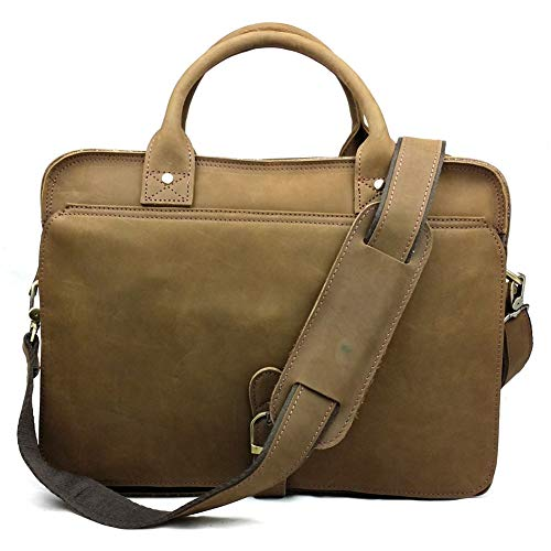 YCX Herren Aktentasche, Europäische Und Amerikanische Mode Retro Business Umhängetasche, Handtasche, Laptoptasche, Umhängetasche - Europäische Aktentasche