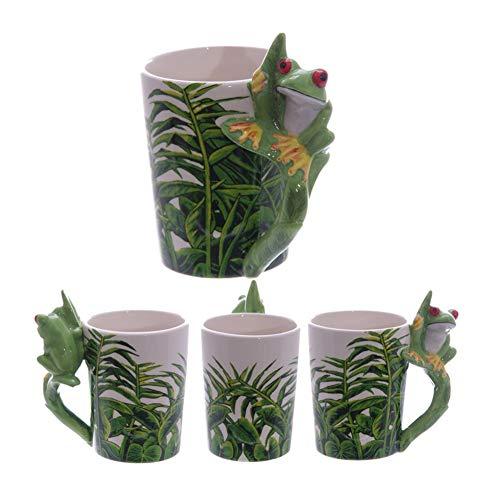 Tasse Becher Kaffeebecher Teetasse 350 Ml Keramik Motiv Frosch Laubfrosch