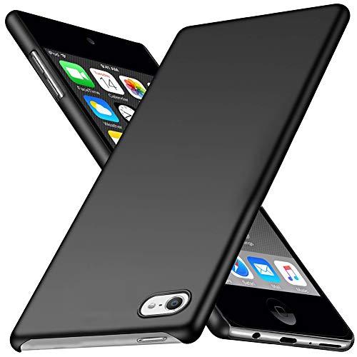 TOPACE Hülle für Apple iPod Touch 6/7 2019 Ultradünne Leichte Matte Handyhülle Einfache Stoßfeste Kratzfeste Schutzhülle kompatibel mit iPod Touch 7 2019 (Schwarz) - Touch Schutzhülle Ipod