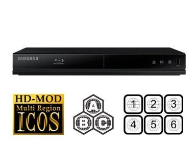 Samsung BD-J4500 Blu-ray Player Multiregion Blu-Ray & DVD. Code Free Blu-ray Player for All Zone playback.