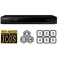 Samsung BD-J4500 Blu-ray Player Multiregion Blu-Ray & DVD. Code Free Blu-ray Player for All Zone playback