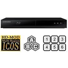 Reproductor Blu-ray y DVD multirregional Samsung BD-J4500Reproductor de Blu-ray de código libre para la reproducción de todas las zonas.