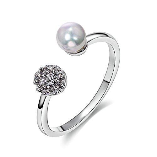 Aooaz Gioielli Squillare Perle da donna CZ Diamonds Accessori da donna Cute Ring presenta regali