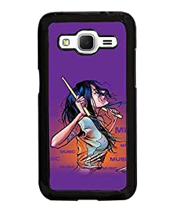 Fuson Music Lover Girl Back Case Cover for SAMSUNG GALAXY CORE PRIME - D3921