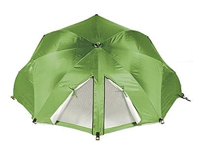 Meerweh Windschutz Muschel Sonnenschirm, Grün, 60 x 290 x 145 cm von MEERQ - Gartenmöbel von Du und Dein Garten