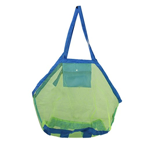 Generic Foldable Sand Away Mesh Beach Bag for Kids Toys Towels Large Size