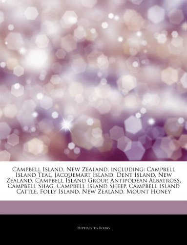 Articles on Campbell Island, New Zealand, Including: Campbell Island Teal, Jacquemart Island, Dent Island, New Zealand, Campbell Island Group, Antipod