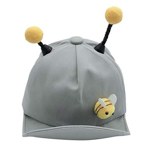 MISSWongg Kinder Mädchen Baby Baseballmütze Cartoon Tier Honigbiene Hut Jungen Mädchen Sommermütze Jungen beiläufiger Sonne Hut (8 months-3T, Grey) Serie Mesh Cap