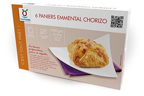 Toupargel Paniers Chorizo Emmental 6 x 80 g Surgelé