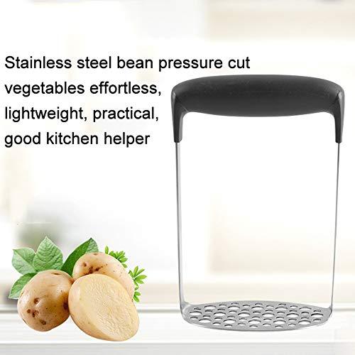 Cossll498 Ergonomische Küche mit breitem Griff aus Edelstahl-Kartoffel-Gemüse-Frucht-Stampfer-Handpresse