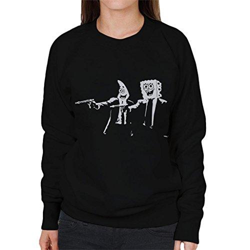 Cloud City 7 Spongebob and Patrick Pulp Fiction Women's Sweatshirt Mia Womens Sweatshirt