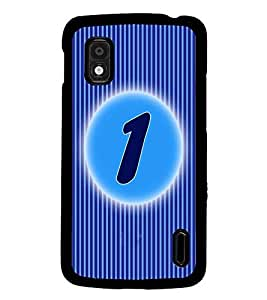 PrintDhaba Numerology Number 1 D-2556 Back Case Cover for LG GOOGLE NEXUS 4 (Multi-Coloured)