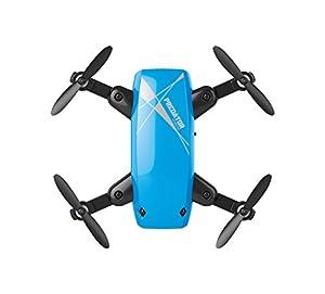 PRIXTON - Drone con Camara WiFi y estabilizador de Vuelo, Distancia máxima 30 Metros, 4 Canales y 6 Ejes de Movimiento, Incluye Mando a Distancia, Color Azul | DR200Selfie