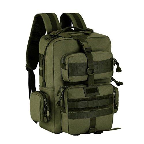 Gazechimp 30L Rucksack, Erwachsene Taktischer Rucksack Trekkingrucksack Outdoor Wanderrucksäcke für Camping Wandern Reisen Radfahren, Sport Backpack Armeegrün
