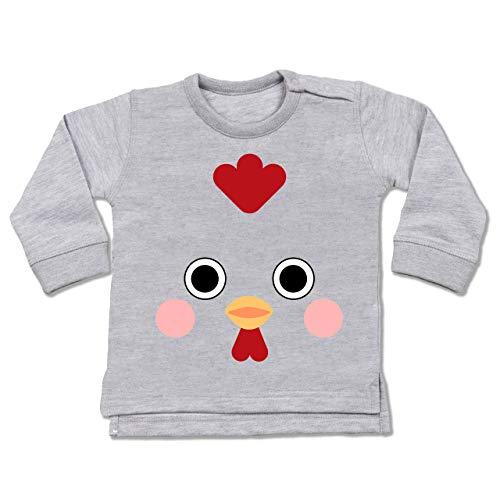 Shirtracer Karneval und Fasching Baby - Hahn Kostüm - 18-24 Monate - Grau meliert - BZ31 - Baby (Baby Hahn Kostüm)