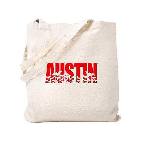 CafePress Austin Fledermäuse aus natürlichem Leinen, Einkaufstasche aus Stoff -