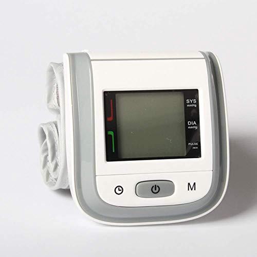 DHHZRKJ Blutdruckmessgerät Home Medical Handgelenk typ elektronische blutdruckmessgerät Stimme messung OEM blutdruckmessgerät mit LCD Display,Grau