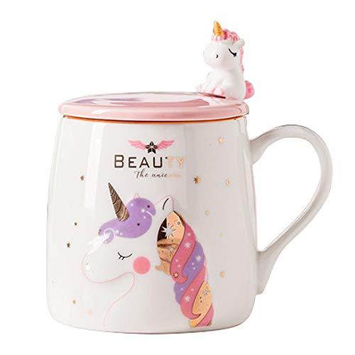 Unicorn Mug Cute Ceramic Coffee Mug with Unicorn Spoon