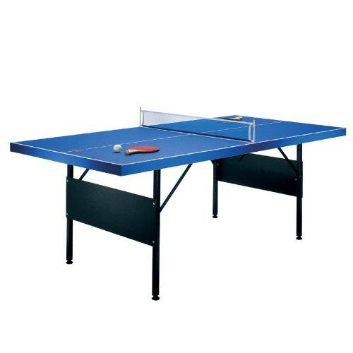 Riley Tischtennisplatte (183 x 71 x 91 cm, 2 x Schläger, 2 x Bälle, Netz, klappbar) blau