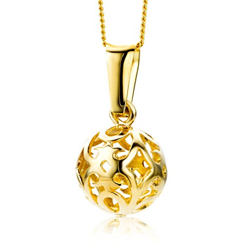 Miore Kette - Halskette Damen Gelbgold 9 Karat / 375 Gold Kette  45 cm - Für Diamant-gold-armbänder Frauen