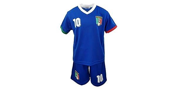 Italien Unbekannt Sports Fussball Fan Set Italia Trikot JS77e Shorts
