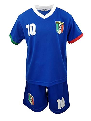 Fussball Fan Set Italia, Italien, Trikot + Shorts in Blau, Gr. 140/146, JS177.12