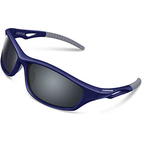 2c980110320 TOREGE Polarized Sports Sunglasses For Men Women Cycling Running Fishing  Golf TR90 Unbreakable Frame TR010 (