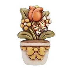 Idea Regalo - THUN Vasetto con Tulipano, in Ceramica, h 25 cm
