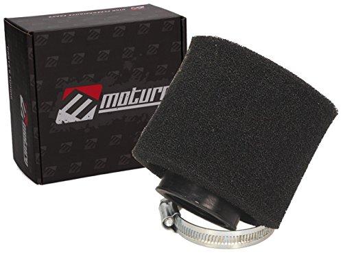 Moturo Sport Luftfilter schwarz 42-44mm Anschluss Typ 26 für Motorrad, ATV, Quad