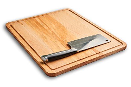 Grande tagliere rettangolare in legno. 45x 35x 1,5cm. in legno di faggio. tagliere. best rated hardwood cutting block.