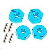 vige 4 Pezzi Dadi esagonali in Lega di Alluminio con mozzi di azionamento perni 12mm Adattatore Dadi in Metallo Auto RC Accessori per Auto 4WD RC - Blu