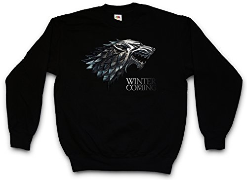 WINTER IS COMING PULLOVER SWEATER SWEATSHIRT MAGLIONE - Il Trono House Stark Targaryen di Spade Game Of Thrones Lannister Larp Eddard Ned Taglie S - 5XL