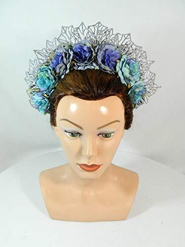 Haarreif Blumen Fascinator Headpiece Haarkrone Blumenkrone Diadem Haarschmuck Blumenkind Kunstblumen Federn Hochzeit Braut