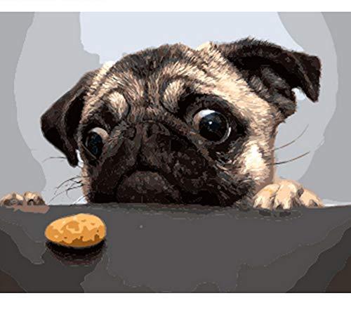 Diy marco perro y pastel pintura diy by números moderno imagen de...