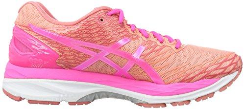 Asics Damen W's Gel-Nimbus 18 Gymnastik Rosa (Peach Melba/Hot Pink/Guava)