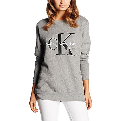 Calvin Klein Crew Neck Hwk - Camiseta de manga larga para mujer