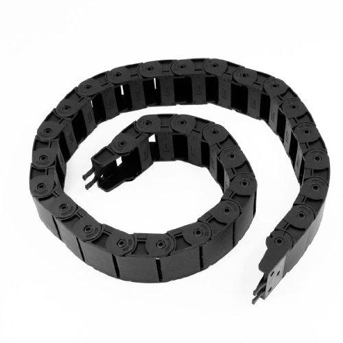 Longueur 100cm en plastique Machine Corde chaîne Frein Noir 18mm x 37mm