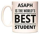 ASAPH IS THE WORLD'S BEST STUDENT Becher von WeDoMugs