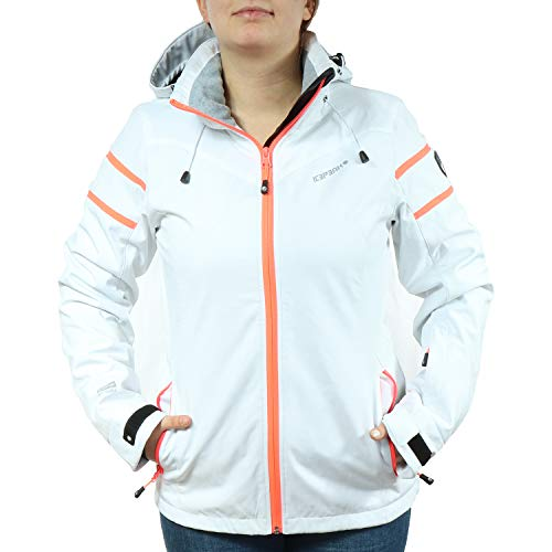 Icepeak Damen Winter Ski Jacke Softshell Nelly 980 Weiß/Orange 254820542I (980 Weiß/Orange, 38)