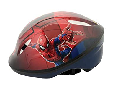 Spiderman Boys Safety Helmet, red, 48-54cm from MV Sports & Leisure