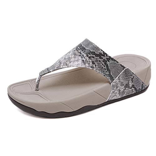 Stegmann Wollfilz (NEEKY Frauen öffnen Zehe Breathable Starke untere Strand-Sandelholze Beiläufige Flipflops-Schuhe Mode Damen Dickbesohlten Zehen Große Sandalen Hausschuhe 35-41(35,Grau))