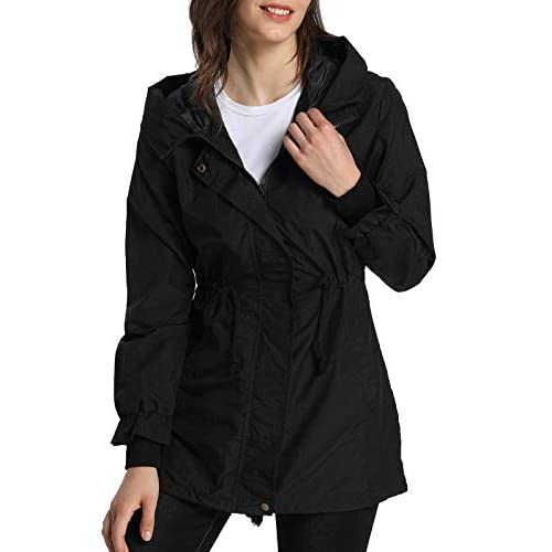 41QcUV3FpOL. SS500  - 4How Ladies Outwear Breathable Waterproof Jacket Outdoor Lightweight Coat
