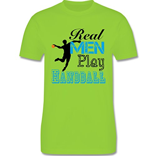 Handball - Real Men Play Handball - Herren Premium T-Shirt Hellgrün
