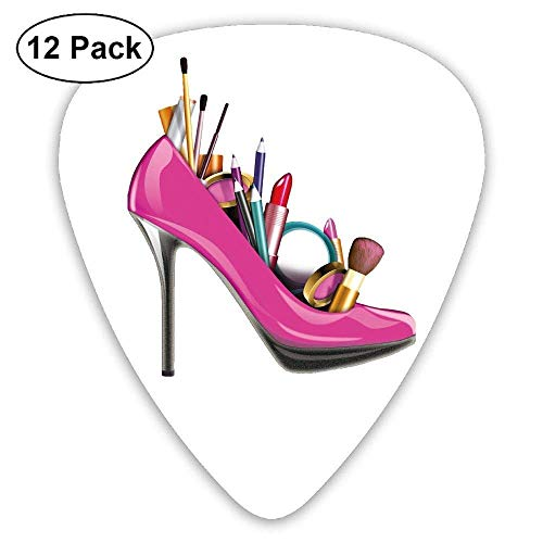 High-Heeled Shoes Makeup Tools Classic Guitar Pick (12 Pack) for Electric Guita Bass,0.46/0.73/0.96 Mm Guitar