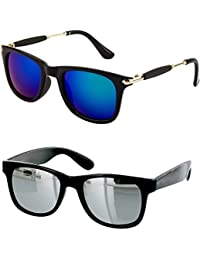 fef6e3190af Younky Unisex Combo offer Pack of UV Protected Stylish Wayfarer Sunglasses  For Men Women   Boys   Girls (BigBBlue-SMWay
