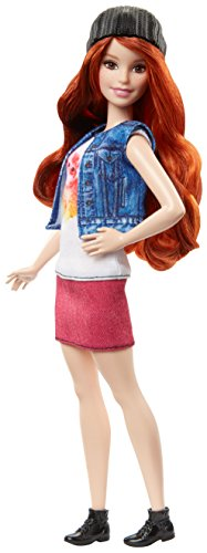 Preisvergleich Produktbild Mattel Barbie DVX69 - Fashionistas Puppe im Top mit Katzenapplikation